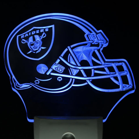 Oakland Raiders Helmet LED Neon Night Light
