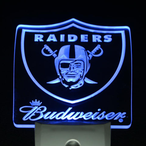 Oakland Raiders Budweiser LED Neon Night Light