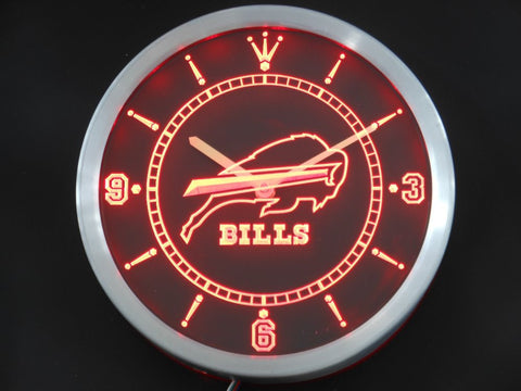 Buffalo Bills LED Neon Wall Clock