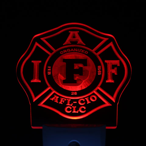 Fire Rescue IAFF FireFighter Day/ Night Sensor Led Night Light