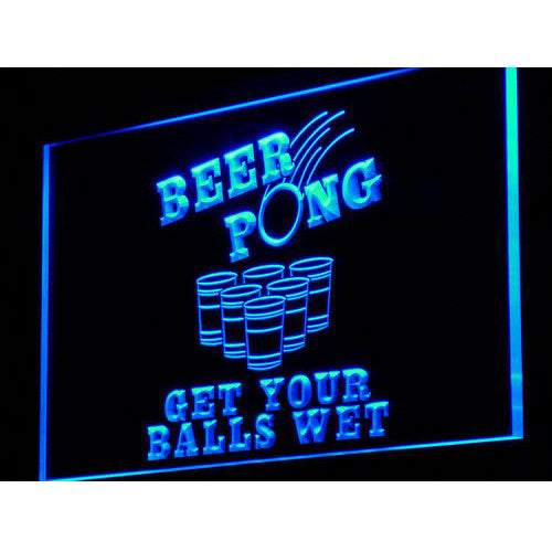 Beer Pong LED Neon Sign