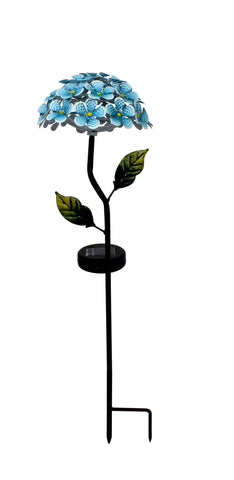 Arctic Sky Blue Hydrangea 26 LED Solar Stake Light