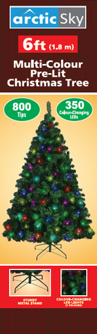 ARCTIC SKY 6' 800 Tip 350LED Multicolor Christmas Tree