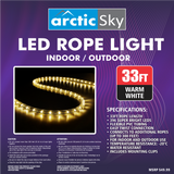 Arctic Sky 33' LED Rope Light - Warm White