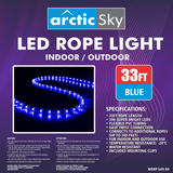 Arctic Sky 33' LED Rope Light - Blue