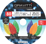 Gravitti Indoor/Outdoor C9 Led Lights-80Pack Multicolor