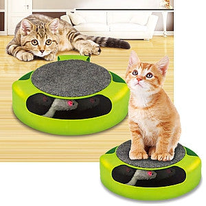 Gravitti Catch-The-Mouse Motion Cat Toy With Scratch Pad