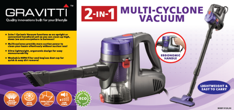 Gravitti 2-In-1 Multi-Cyclone Vacuum