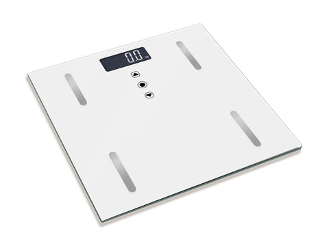Digital Bathroom Scale- White