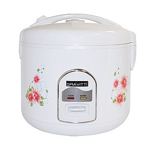 Gravitti 20 Cup Rice Cooker W/Steamer & Flip Lid