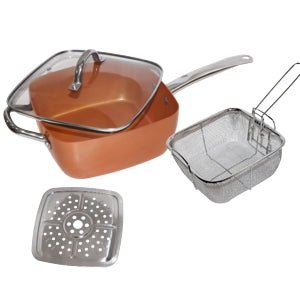 5-In-1 Copper Cookware Set