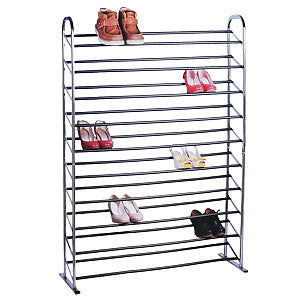 Gravitti Chrome 50 Pair Shoe Rack