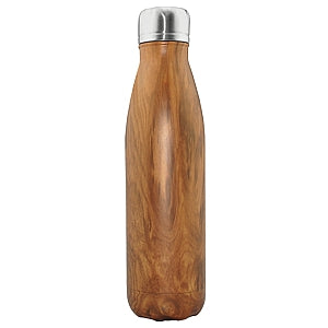 Gravitti Double Wall Stainless Steel Water Bottle 17Oz- Teak