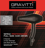 Gravitti Tourmaline Ionic Hair Dryer