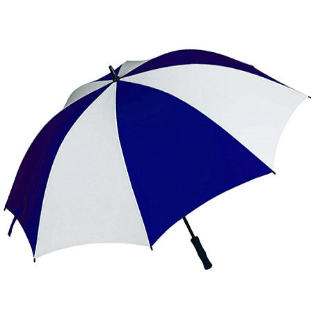 "Gravitti 60"" Golf Umbrella W/Rubberized Handle-Blue/White"
