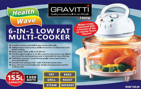 Gravitti Low Fat Multi-cooker