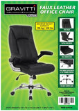 Gravitti Faux Leather Office Chair-Black