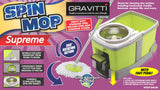 Gravitti Supreme Spin Mop With Replacement Mop Head