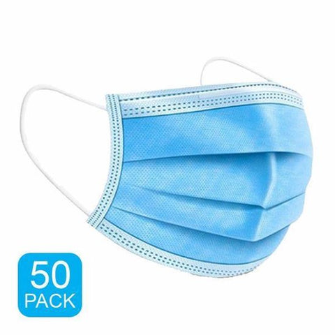 GRAVITTI DISPOSABLE 3-PLY FACE MASK-50 PACK (NON-MEDICAL GRADE)