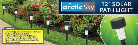 "ARCTIC SKY 12"" SOLAR PATH LIGHT"