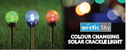 ARCTIC SKY COLOUR CHANGING SOLAR CRACKLE LIGHT