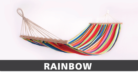 ARCTIC SKY DELUXE PORTABLE COTTON HAMMOCK 1MX2M-RAINBOW