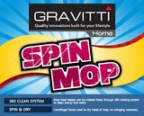Gravitti Spin Mop With Replacement Mop Head