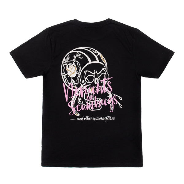 DEVIANTS & SCUMBAGS T SHIRT - BLACK