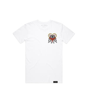 BURNING EYE WHITE T-SHIRT
