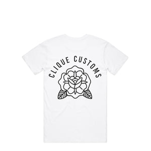 Open image in slideshow, CLASSIC ROSE WHITE T-SHIRT