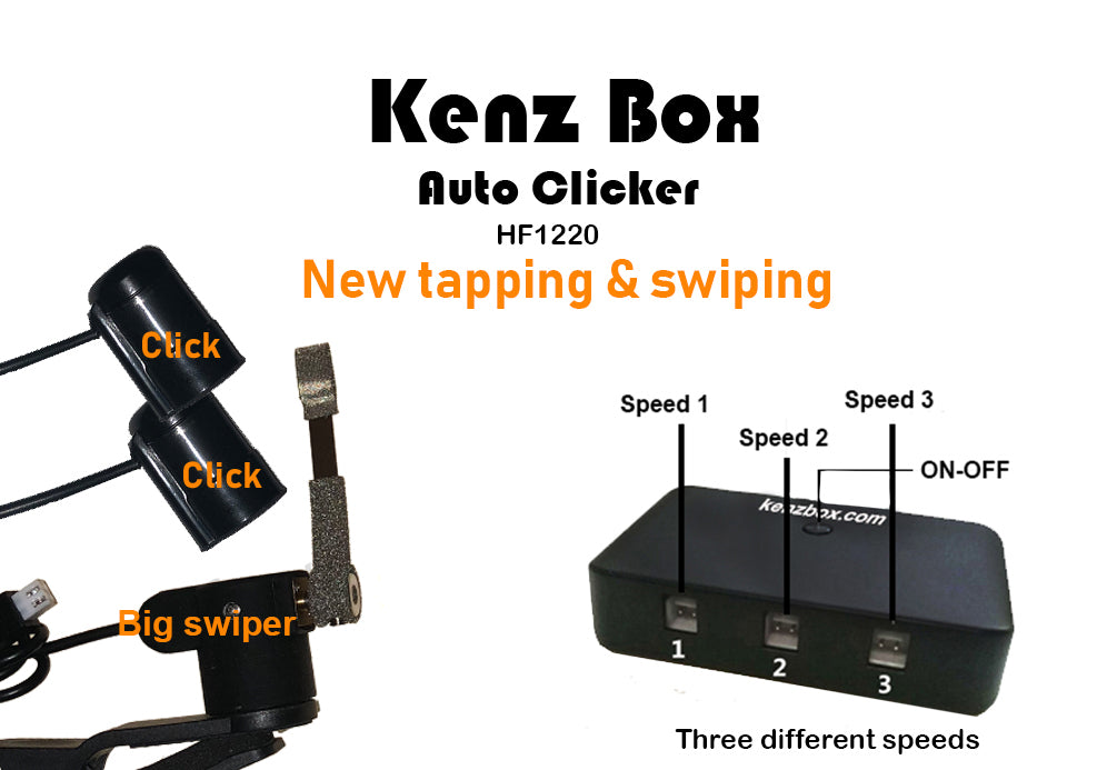 "Kenz Box Auto clicker device HF1220 ""Plus Swiping Head"""