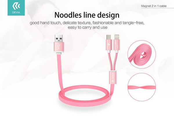 Devia Magnet 2-in-1 Lightning and Micro USB Cable for iPhone/iPad/Android