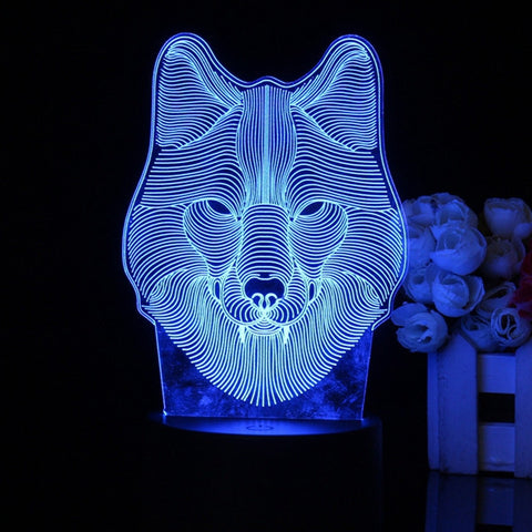 Wolf Head LED Night Light