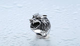Stainless Wolf Ring In Black Gold or Silver