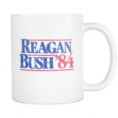 Regan Bush 1984 Campaign Coffee Mug