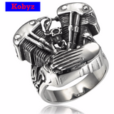 Cool Biker V Twin Engine Ring