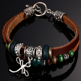 MENS GENUINE LEATHER HANDMADE FASHION BRACELET