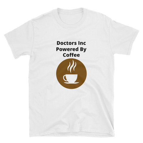 doctors inc powered by coffee Short-Sleeve Unisex T-Shirt