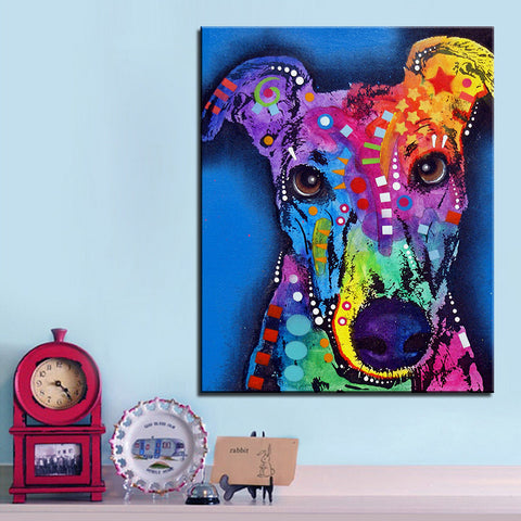 Greyhound Dog Oil Print