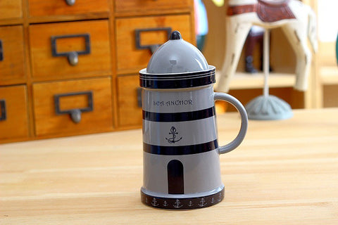 Light House Drinking Mug With Cover
