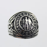 Stainless Steel US Military Veteran Ring
