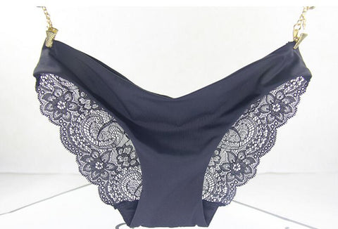 SEAMLESS LACE PANTY BRIEFS