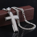 Hip Hop Cross Pendant Necklace