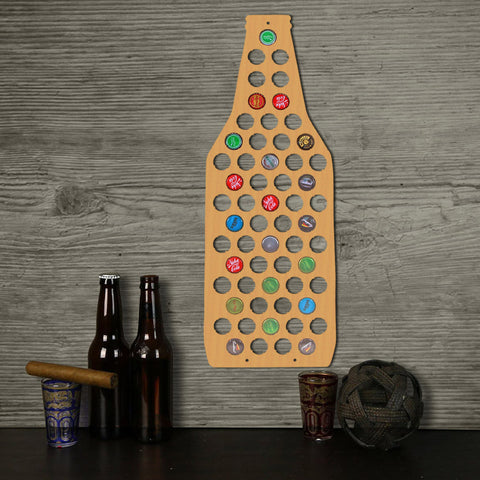 Beer Bottle Shape Beer Cap Map Collection Decorate Wall