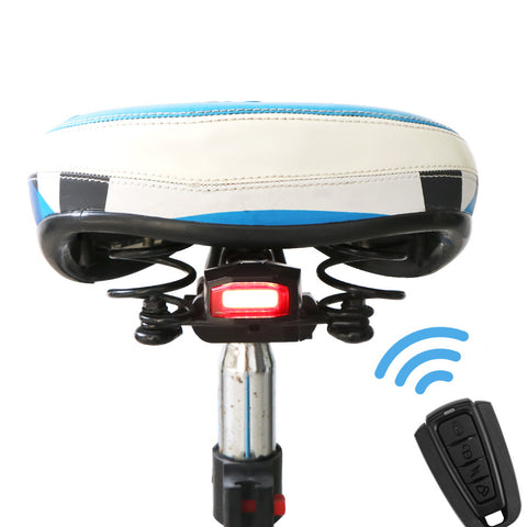 Remote Control Bicycle Alarm Intelligent Bike Tail Light Wireless Anti-Theft Bicycle Alarm USB Rechargeable Taillights Waterproof Rear Bike LED with Bell for Sports & Outdoors
