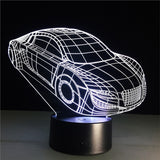 Exotic Sports Car 3D Lamp Visual Light Effect Touch Switch & Remote Control Colors Changes Night Light