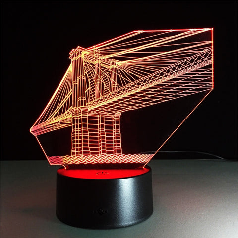 San Francisco Bridge 3D Lamp Visual Light Effect Touch Switch & Remote Control Colors Changes Night Light