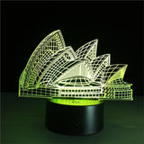 Sydney 3D Lamp Visual Light Effect Touch Switch & Remote Control Colors Changes Night Light