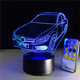 3D LED Night Lamp Visualization Illusion 7 Color Change Touch Button Switch and Remote Control USB Powered Amazing Art Optical Unique Lighting Effects Desk Table