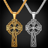 VIKING CROSS PENDANT NECKLACE